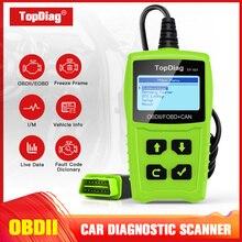 TopDiag OBDII Scanner Battery Testing Scan Tool Erase Fault Code EOBD JD101 Auto Diagnostic Engine Light Car