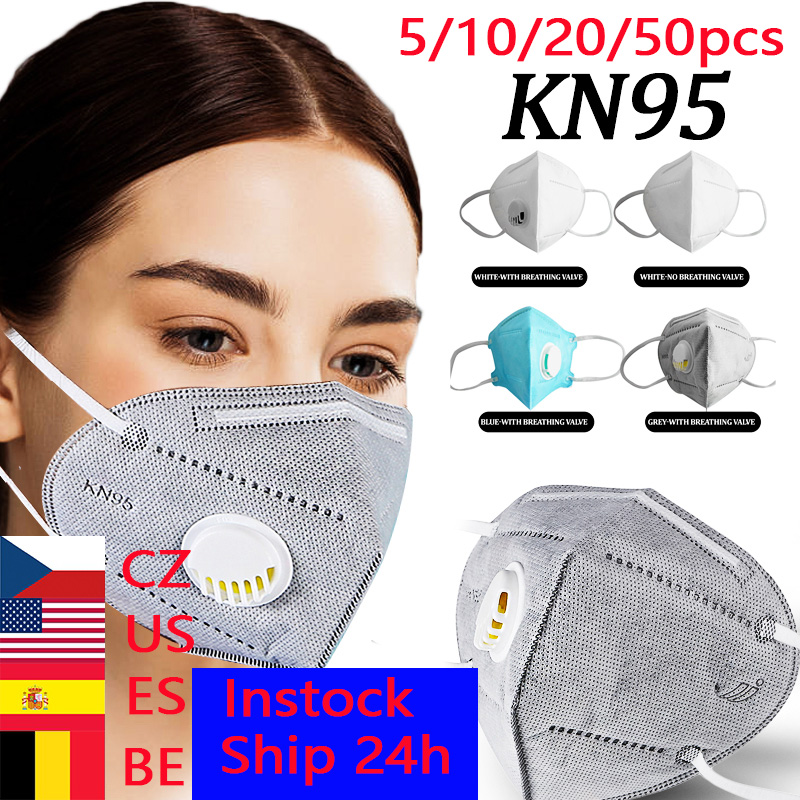 50pcs KN95 Dust Masks Wholesale N95 Respirator Air Filter Gas Mask Safety Protective Kf94 Ffp3 Face Mouth Mask Dropshipping