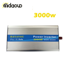 3000Watt/6000W peaking Solar power Inverter converter DC12V/24V/48V to 110/220V/230vAC Pure Sine Wave