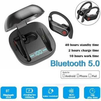 Sport Earbuds Bluetooth V5.0+EDR Headset Wireless TWS Earphone In-Ear Headphone Stereo Ear-Hook