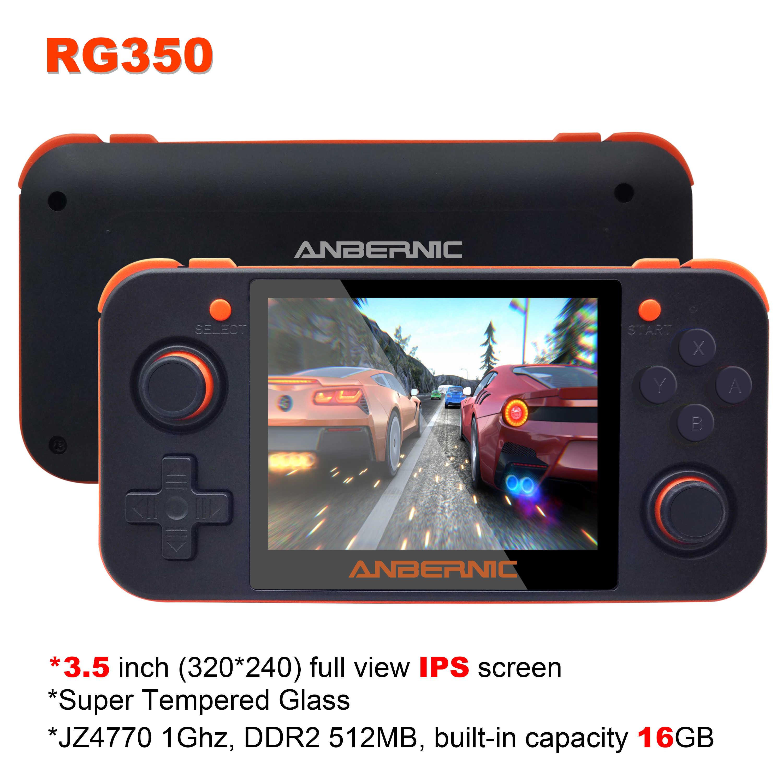 חדש ANBERNIC RG350 IPS רטרו משחקי 350 וידאו משחקים שדרוג משחק קונסולת ps1 משחק 64bit opendingux 3.5 אינץ 28000 + משחקי rg350