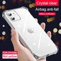 Роскошный Ударопрочный силиконовый чехол для телефона на iPhone 11 12 pro XS Max X XR прозрачный чехол на 11 12 Mini 6 7 8 Plus X задняя крышка