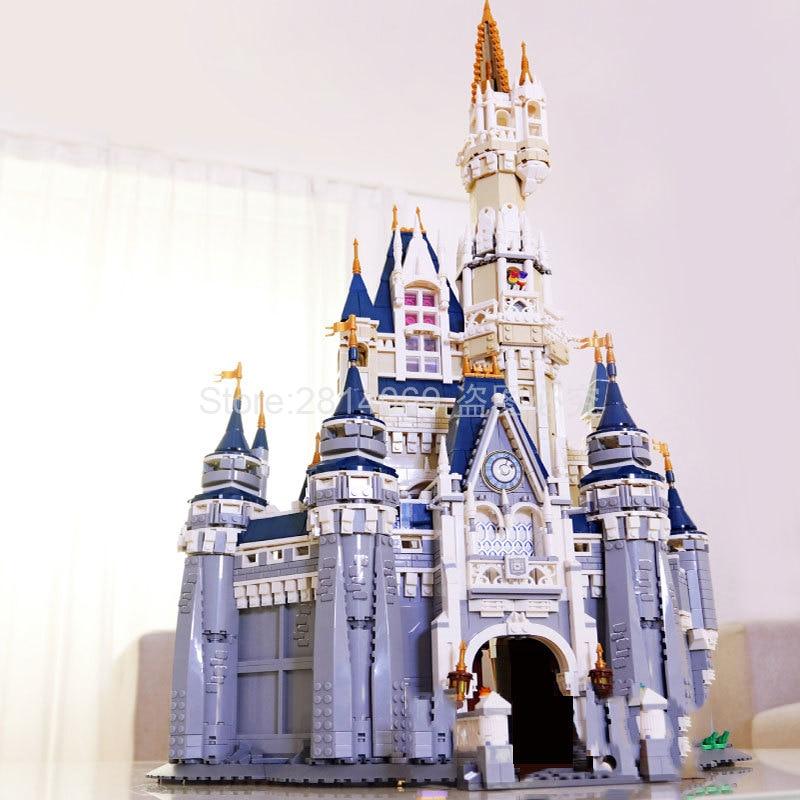 16008 Cinderella Princess Castle City Model 4080Pcs Building Block Kid Toys For Children Gift Movie 71040