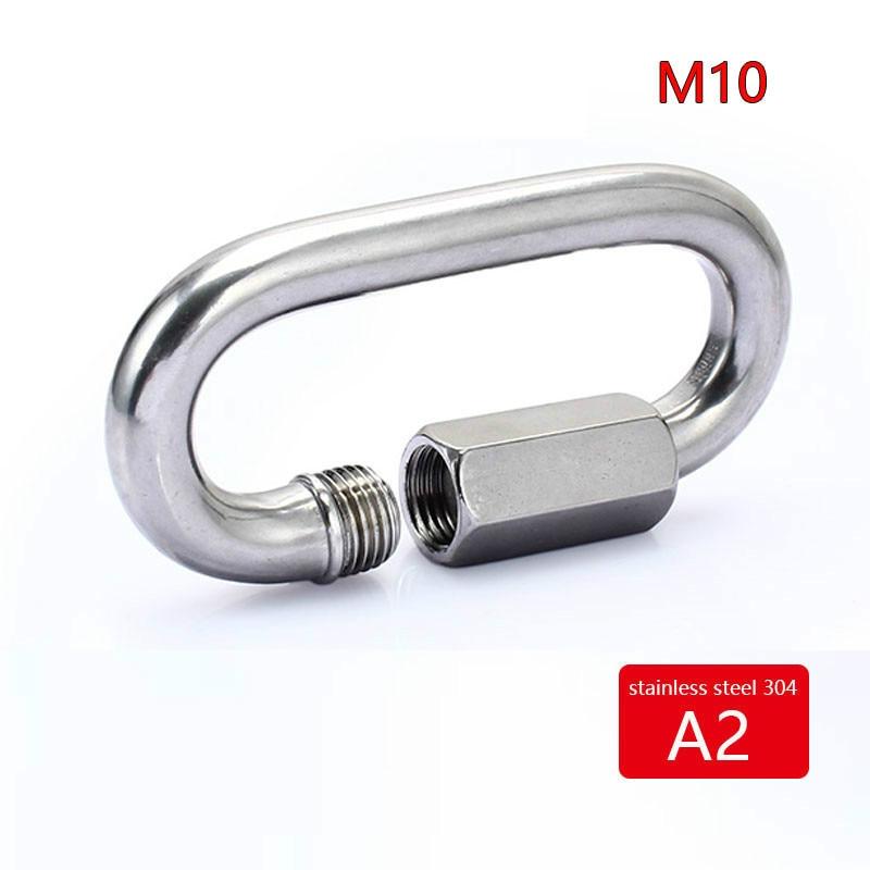 M10 Grillete de cerradura 304 de acero inoxidable 2 piezas