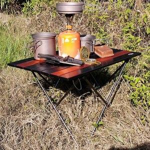 Image 5 - Tavolo da campeggio pieghevole portatile tavolo pieghevole scrivania campeggio Picnic allaperto 6061 lega di alluminio mobili da esterno ultraleggeri