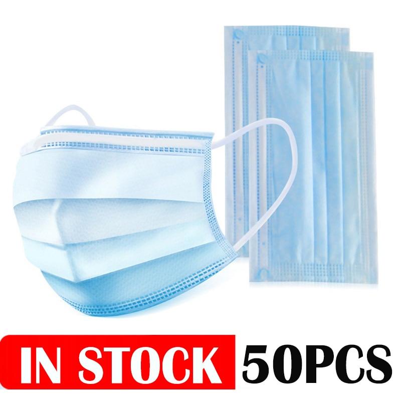 50PCS/lot Disposable Anti Dust Mask Mouth Korean USA Non  Mouth Face  Anti PM2.5 Mask