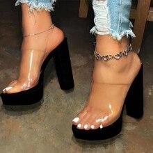 2020 Summer Women Transparent High Heels Sandals Shoes Woman