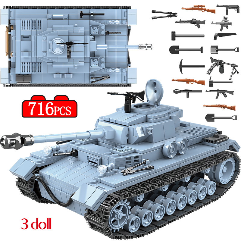 Military sets Figures With Weapons Building Blocks Compatible Legoed WW2 Army