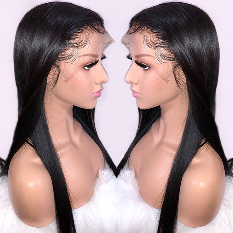 Straight Wave Wig 13*4 Lace Frontal Human Hair Wigs Remy Peruvian Human Lace Wig Pre Plucked With Baby Hair Modern Show Hair