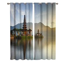 Indonesia Window Curtains Scenic Curtains for Living Room Decorative Items Living Room(China)