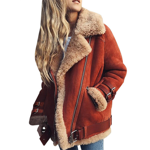 Winter Jacket Women Faux Fur Slim Cotton Warm Thick Coat Female Suede Short Woman Parka Outerwear Velvet Down Jacket Plus Size