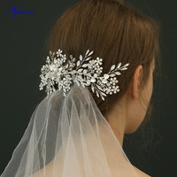 Bridal Wedding Hair Combs Silver Hair Band New Arrival Hair Jewelry Crystal Hairgrips Full Dress Ornaments Photography Decorate