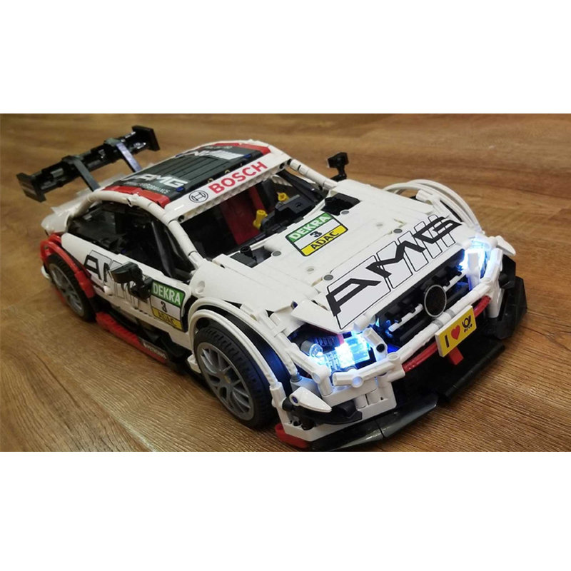 MOC Assembly Super Racing Car AMG C63 Technic Series Model Building Blocks Kit Bricks Toys For Children Boy Gifts