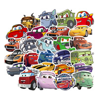 50 Pcs Disney Pixar Autos 2 3 Blitz McQueen Cartoon Aufkleber Für Skateboard Motorrad Gepäck Laptop Gitarre Notebook Spielzeug Sti