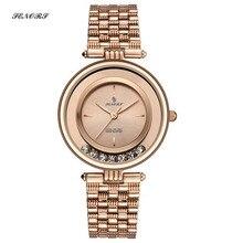 SENORS 宝石時計防水ファッションシンプルなレディースクォーツ腕時計女性の saat 女性腕時計時計時間