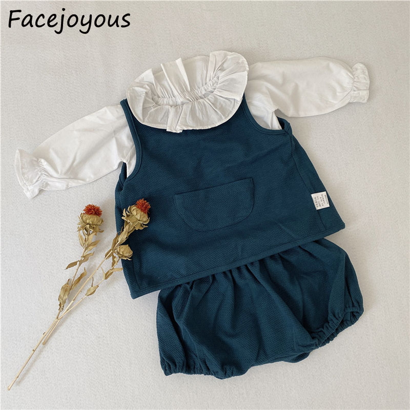 0-2Years Kids Newborn Baby Girls Cotton Sleeveless Tank Tops + PP Shorts Outfits 2pcs Ifant Baby Boys Summer Clothes Set