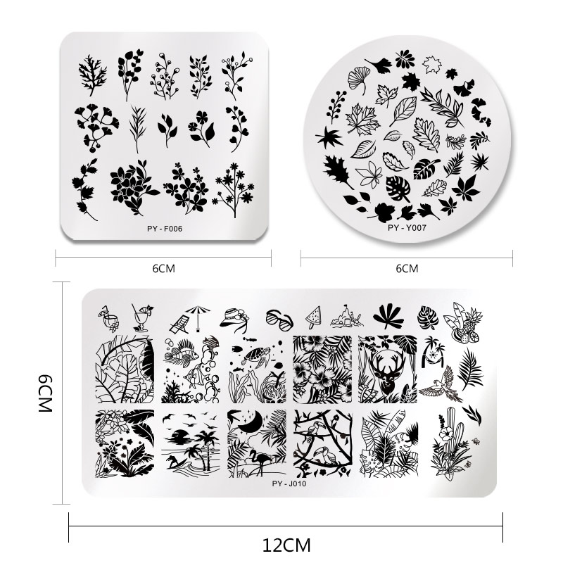 Image 5 - PICT YOU Halloween Nail Stamping Plates Pumpkin Flowers Animal Tropical Geometry Pattern Nail Art Image Lace Stamp Templates-in Nail Art Templates from Beauty & Health