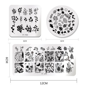 Image 3 - PICT YOU Nail Stamping Plates Tropical Collection Nail Art Stamp Templates DIY Nail Image Plate Stainless Steel Design Tool