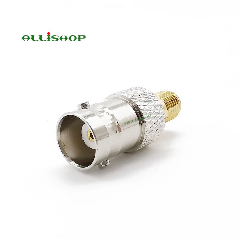 1Pcs SMA Female Jack to BNC Male plug straight RF coaxial Connector Adapter