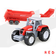 Farm Vehicles Mini Car Model Engineering Car Model Tractor Engineering Car Tractor Toys Model for Kids Xmas Gift knl hobby j deere model a tractor agricultural vehicle safety model gift act ertl 1 16