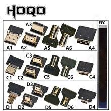 Ribbon Flat FPV HDMI-Compatible Connector Flexible Cable Raspberry Pi 4 Micro HDMI to HDMI/Mini HDMI Female 90 Degree FFC 20pin