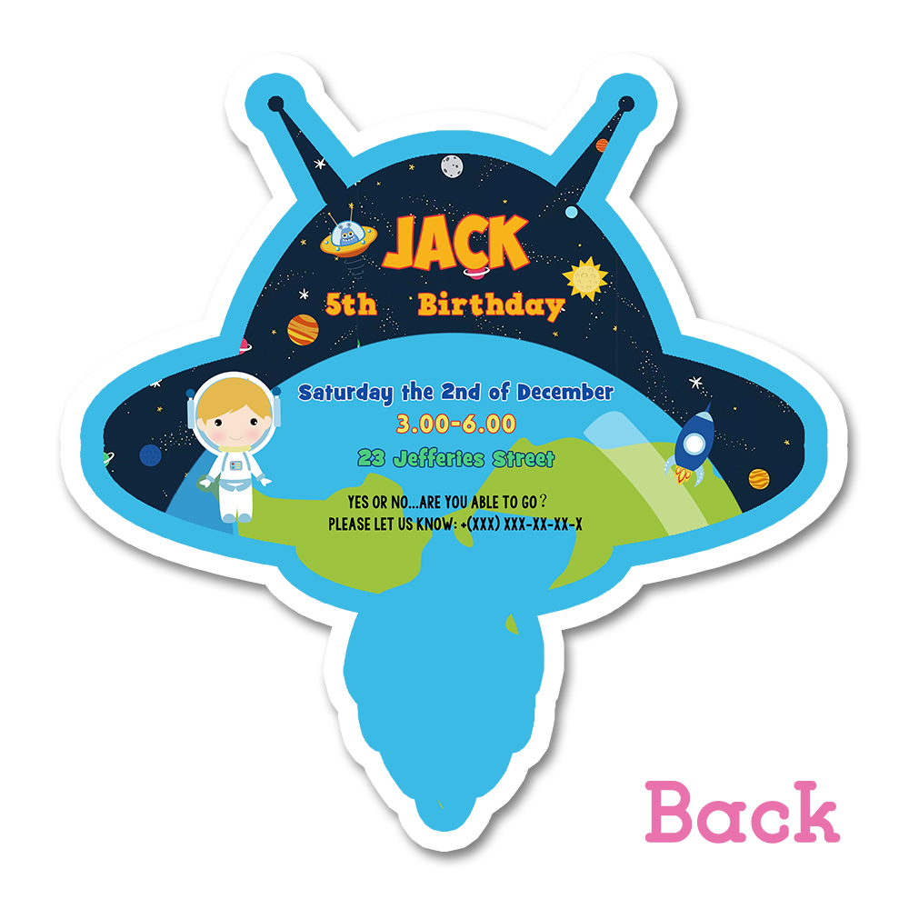 astronaut party invitation card birthday party decorations kids party supplies blank personalized space astronaut decoration