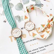 Plaid And Watermelon Bandage Women Fashion Casual Watches 2019 Ulzzang Brand Des