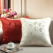 45x45 Polyester Embroidery pattern Cushion Case Car Waist Home Decor Fancy Hot Sale Sofa Bed Pillow(China)