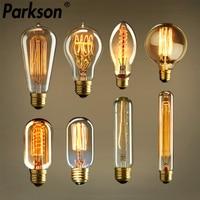 Bombilla Edison Retro regulable E27 40W 110V 220V ampolla Retro lámpara incandescente filamento Vintage Lámpara decorativa