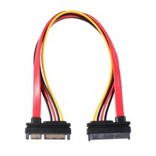 цена на 7+15 Pin Serial SATA Data power combo extension Cable 1pcs Serial Power Adapter Cable Hot Selling TA SATA To HDD Cable
