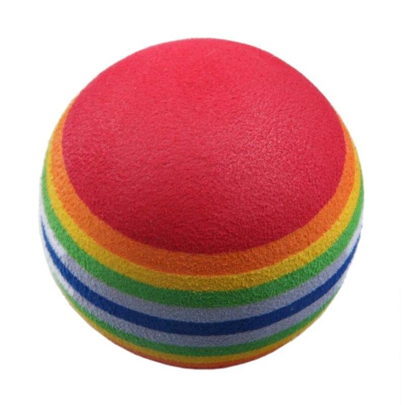 50pcs Golf Swing Training Aids Indoor Practice Sponge Foam Rainbow Balls Golf Balls     - title=