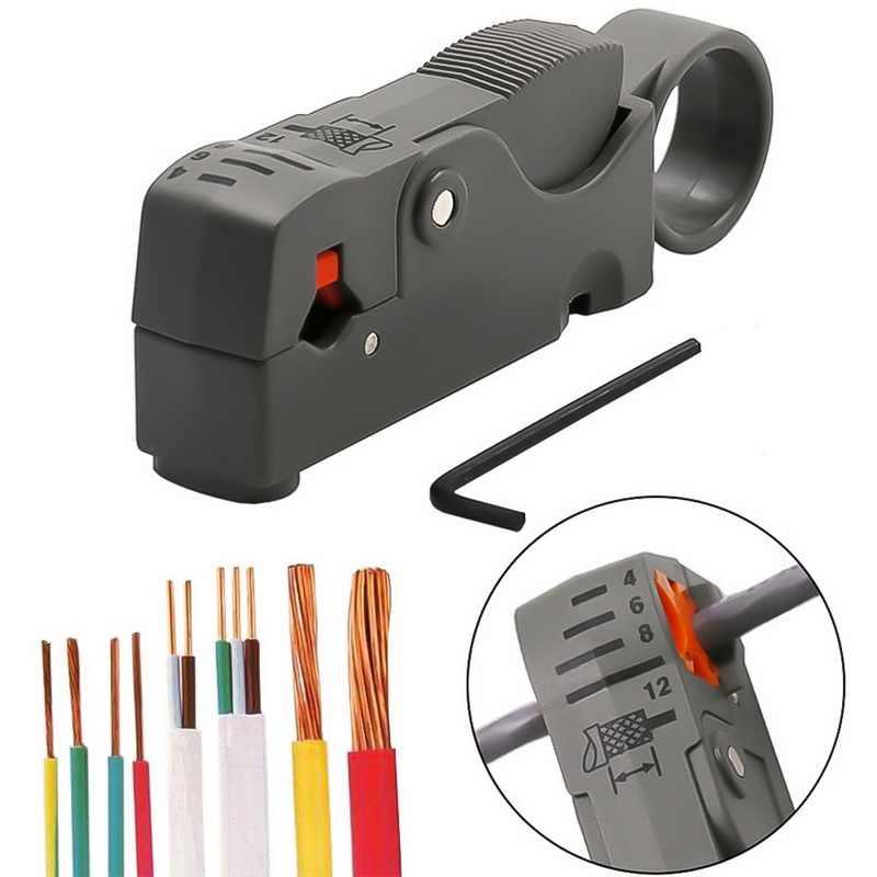 Automatyczne szczypce do zdejmowania izolacji szczypce do ściągania izolacji ściąganie izolacji z kabla Crimper narzędzia do zaciskania klucz sześciokątny wielofunkcyjny