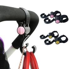 2Pcs/Lot Baby Hanger Baby Carriage Bag Mummy Diaper Bag Stroller Hooks Pram Rotate 360 Degree Cart Hook Stroller Accessories все цены