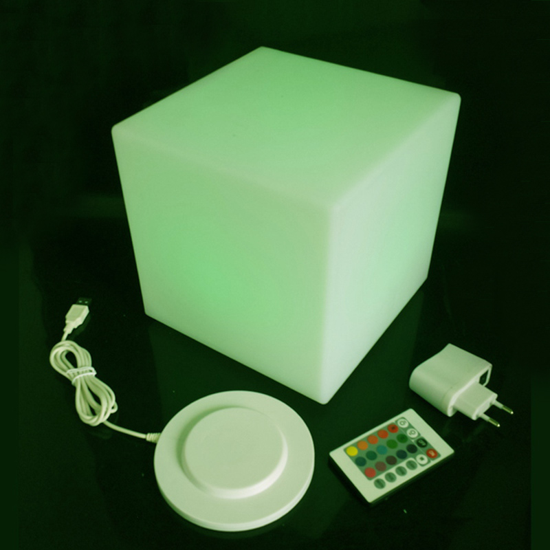 Diameter 25cm D9.85inch Waterproof IP65 Led Square Cube Lighting Night Lights Free Shipping 2pcs/lot