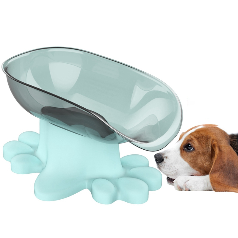 Large Capacity Dog Leg Shape Tilt Open Bowls Feeding Feeder Food Bowl For Pet Cats Puppy Home Dish Protect Gums