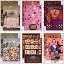 Clásico de película de Wes Anderson película El Gran Hotel Budapest póster retro vintage decoración de la pared para el hogar Bar Café chico habitación