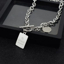 Fashion female stainless square piece letter necklace LOVE net red necklace pendant necklace chain hot sale(China)