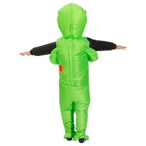 Image 5 - Nuovo Gonfiabile Costume verde Per Gli Adulti alieni Del Capretto Divertente Blow Up Vestito Del Partito Del Vestito Operato Unisex Costume di Halloween Costume per Le Donne uomini