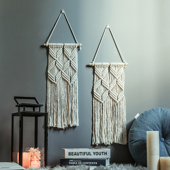 Macrame Wall Ornament Tapestry Bohemian Wedding Hanging Woven 1