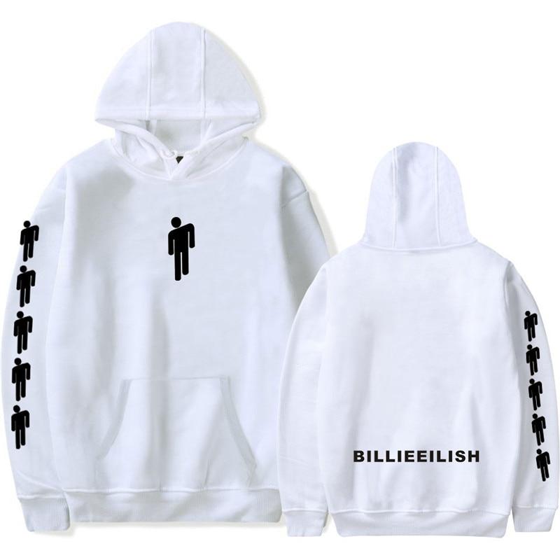 Billie Clothing Costume Eilisi White Hoodie Sweatshirt Loose Hooded Hoodies Autumn K-pops Harajuku Sexy Hip Hop Tops