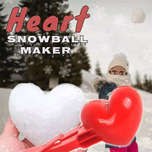 Coração em forma de bola de neve fabricante clipe de neve de inverno molde de bola de areia braçadeira de plástico crianças brinquedo de snowball maker clipe de neve de inverno para crianças