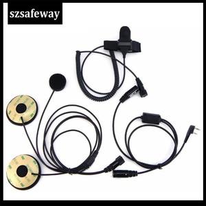 Image 3 - ヘルメットヘッドセット2ピンpttヘルメットヘッドセットイヤホンためのアマチュア無線用ケンウッドbaofeng UV 5R BF 888S