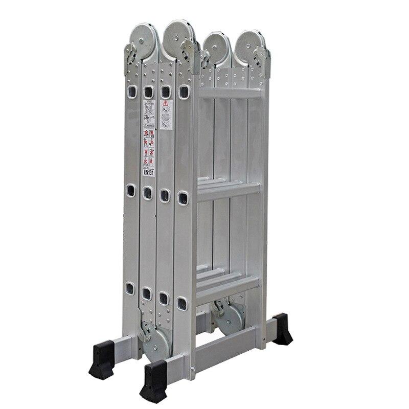 Ladder Factory Wholesale 1.7 M Thick Trestle Ladder Engineering Ladder Large Joints Folding Ladder Four Fold Ladder 4X3
