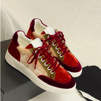 Luxury Vetvel Women Sneakers Fashion Mixed Color Lace Up Low Top Casual Shoes Breathable Flats Women Loafers Vulcanized shoes 40