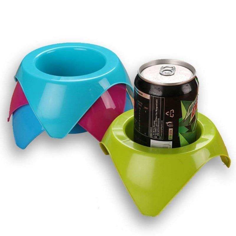 Ev ve Bahçe'ten Çay Tepsileri'de Plaj Bardak Tutucu Plastik Ürünler Kamp Sahil Içecek Rafı Taşınabilir Seyahat eğlence bardak tutucu title=