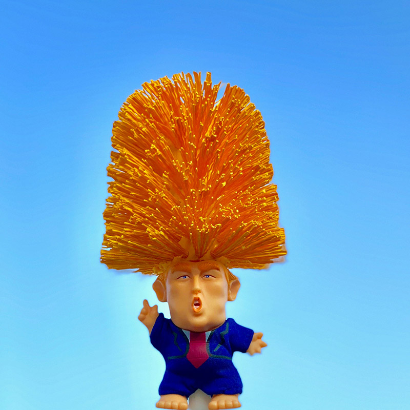 1 Pcs Donald Trump Toilet Bowl Brush Funny Gag Gift Toilet Great Again C44