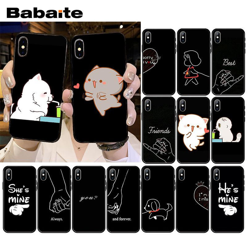 Babaite <font><b>Bff</b></font> Best Friends Phone <font><b>Case</b></font> for <font><b>iPhone</b></font> XR 11 Pro MaxXS MAX 8 7 6 6S Plus X 5 5S <font><b>SE</b></font> image