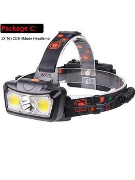 XML T6+COB LED Headlight Portable Waterproof Headlamp Aluminum Alloy Torch Glare Light Fishing Camping Hiking Flashlight sitemap 139 xml