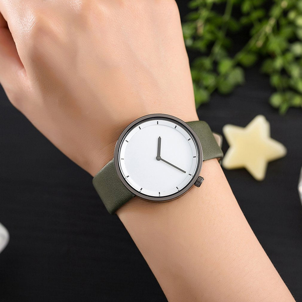 2018 New Men Watches Women Casual Sports Clock Wrist Watch Mens Relogio Feminino Unisex PU Leather Quartz Watch Relojes