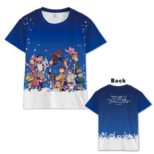 цены Hot Anime  Digimon Adventure T-shirt Men Women Short Sleeve Summer dress Cosplay Costumes  Tops Unisex  digimons t shirt